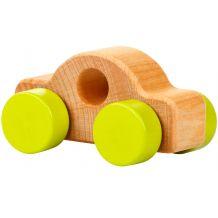 Дерев'яна іграшка Міні-машинка салатова, Cubika, 13210