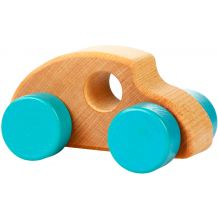 Дерев'яна іграшка Міні-машинка синя, Cubika, 13241