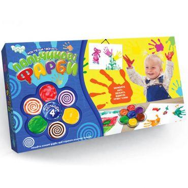 """Пальчикові фарби """"Моя перша творчість"""", Danko Toys, РК-02-02"""
