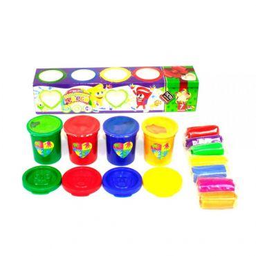 """Набір креативної творчості """"Пальчикові фарби + тісто для ліплення"""", Danko Toys, PK-03-01U"""