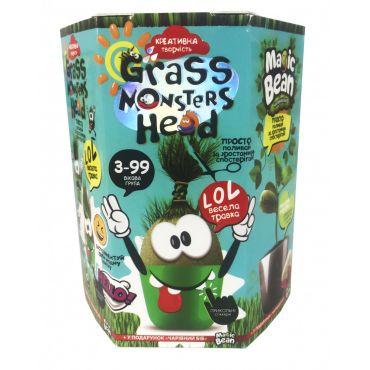 """Набір креативної творчості """"Grass Monsters Head"""", Danko Toys, GMH-01-07U"""