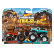 Машинки двупак Monster Jam Loco Punk & Pure Muscle, Hot Wheels, FYJ64 / FYJ66