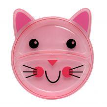 Тарілочка дитяча, секційна рожевий котик, Baby team, 6000