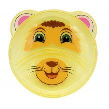 Тарелочка детская, секционная желтый лев, Baby team, 6000