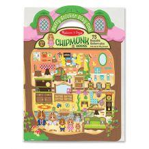 """Об'ємні багаторазові наклейки """"Будиночок бурундуків"""", Melissa&Doug, 9101"""