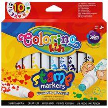 Набір фломастерів для штампів 10 кольорів, Colorino, 34623PTR
