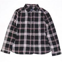 Черная рубашка в розовую клеточку для девочки, Kiabi, VT13112