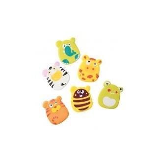 Іграшки-присоски (міні коврики) для ванної 6шт, 533