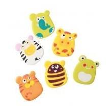 Игрушки-присоски (мини коврики) для ванной 6шт, 533