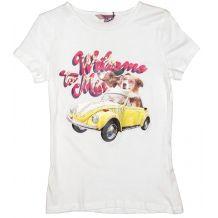 Біла футболка з аплікацією для дівчинки, OVS kids, 5513208
