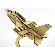 """Дерев'яний 3D-пазл """"Літак -F16"""", Trydeshka, 0007"""