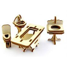 """Дерев'яний 3D-пазл """"Ванна кімната"""", Trydeshka, 0010"""