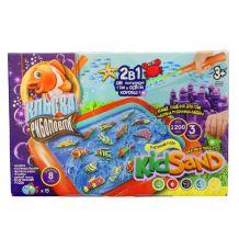 """Настільна гра 2в1 """"Кльова рибалка"""" з кінетичним піском, Danko Toys, KRKS-01-01U"""