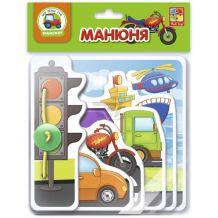 """Гра настільна """"Манюня Транспорт"""", Vladi Toys, VT2222-06"""