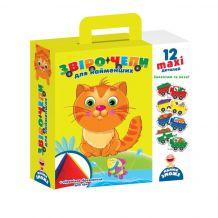 """Гра з м'якою пірамідкою """"Звірочепи"""" для найменших, Vladi Toys, VT2906-01"""