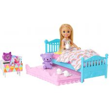 """Ігровий набір Barbie """"Челсі перед сном"""", Mattel, FDB32/FXG83"""