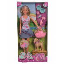 """Кукла Штеффи """"Прогулка с щенками"""", Simba, 5733310"""