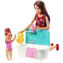 "Ігровий набір Barbie Skipper ""Bathtime"", Mattel, FHY97/FXH05"