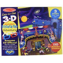 """Набір з багаторазовими об'ємними 3D наклейками """"Пригоди"""", Melissa&Doug, 9375"""