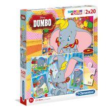 """Набір пазлів SuperColor Clementoni """"Dumbo"""", 2х20 ел, 24756"""