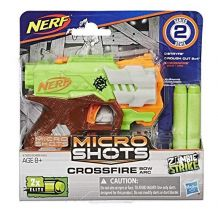 Бластер Nerf Zombie Strike MicroShots Crossfire, Hasbro, A6562