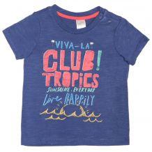"""Футболка синя """"Club tropics"""", H&M, 0495327012"""