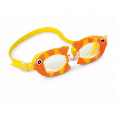 """Дитячі окуляри для плавання """"Рибки"""" 3-8 років, Intex, 55603"""