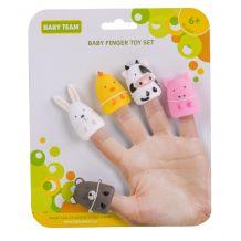Набір іграшок на пальці «Весела малеча», 5 шт., Baby Team, 8700