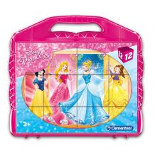 "Кубики-пазл ""Disney Princess"" 12шт, Clementoni, 41181"