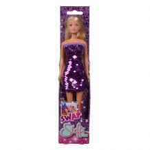 Лялька Штеффі фіолетова сукня з двохсторонніми паєтками, Simba, 5733366