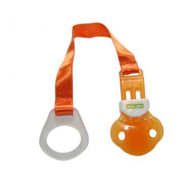Тримач для пустушки помаранчевий, Baby Team, 3330
