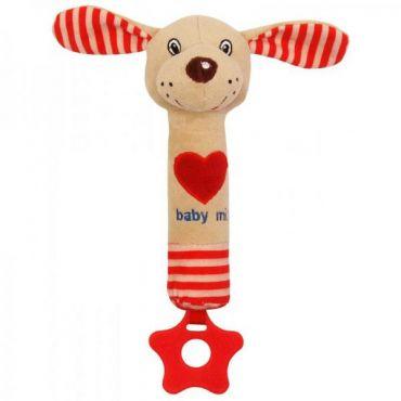 Іграшка-пищалка з прорізувачем Собачка, Baby Mix, STK-17514D
