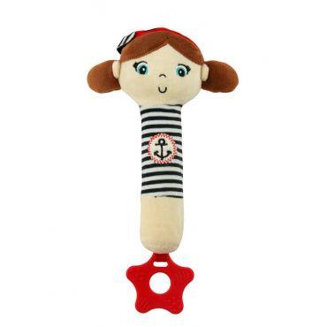 Іграшка-пищалка з прорізувачем Дівчинка, Baby Mix, STK-18869