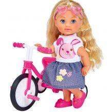 Лялька Еві на трьохколісному велосипеді, Simba, 5733347