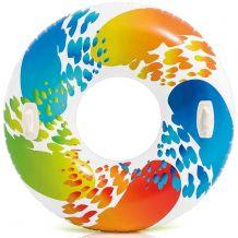 Надувная большой круг с ручками, Intex, 58202