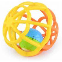 Музикальне брязкальце-куля жовте/оранжеве, Baby Mix, GW-G106