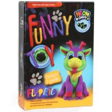 """Набір для творчості """"Air Clay Fluoric: Олень Рудольф"""", Danko Toys, ARCL-FL-01-08U"""