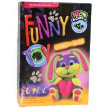 """Набір для творчості """"Air Clay Fluoric: Зайчик Бінкі"""", Danko Toys, ARCL-FL-01-07U"""