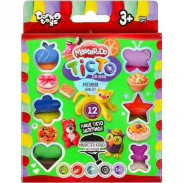 """Тісто для ліплення """"Master Do"""" 12 кольорів, Danko Toys, TMD-02-04"""