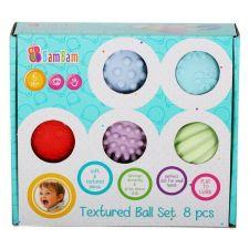 Текстурні сенсорні м'ячики 8шт, BamBam, 428312