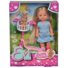 Кукла Эви на самокате с кроликом, Simba, 5733338