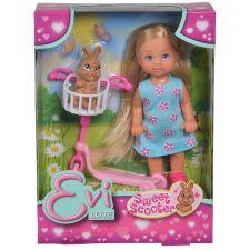 Лялька Еві на самокаті з кроликом, Simba, 5733338
