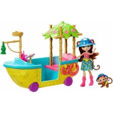"""Ігровий набір Enchantimals """"Човен в джунглях"""", GFN58"""