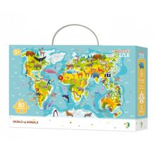 """Пазл """"Мапа світу-Тварини"""", Dodo, 300133"""
