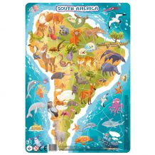 "Пазл з рамкою ""Південна Америка"" 53ел., Dodo, 300178"