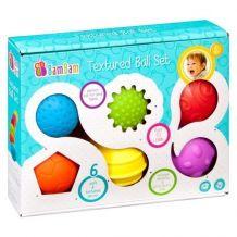 Текстурные сенсорные мячики 6шт, BamBam, 381715