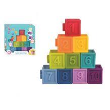 Навчальні кубики 10 штук, BamBam, 432486