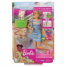 """Ігровий набір Барбі """"Купаємо тварин"""", Mattel, FXH10/FXH11"""