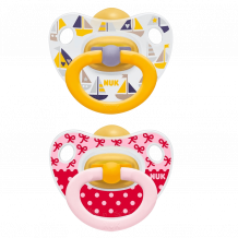 Комплект сосок-пустышек латексных NUK Happy Kids, 6-18 мес, 10172027
