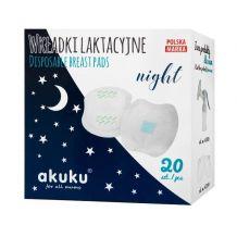 Прокладки для грудей Night 20 шт., Akuku, A0444